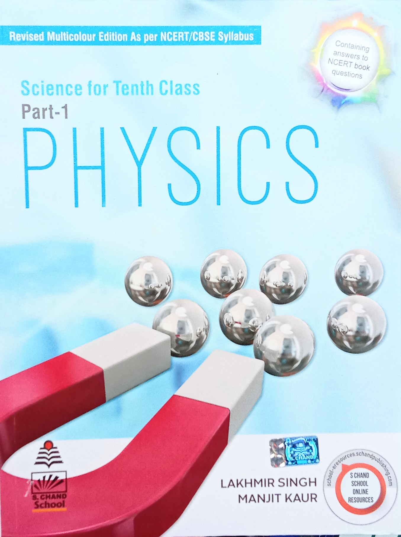 Science for Tenth Class (Part-1) Physics By S. Chand